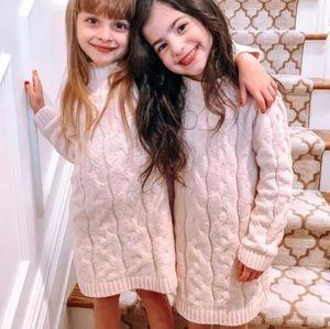 CAT & JACK Mock Neck Blush Pink Sweater Dress